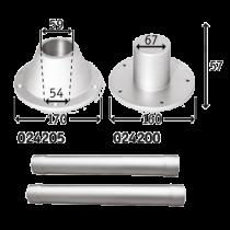 Aluminium Tischbeinsatz