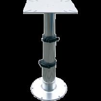"""Aluminium Einstellbarer Tischbein """"Tristar"""" mit 3-Stufen Gasdruckverstellung"""