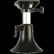 Aluminium Belle Verstellbares Tischbein, H=330-430mm ( 5-Positionen ), Drehscheibe mit 4x Lock, Fußplaat Ø254mm ( hell grau )
