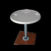 Plug-in Aufbau Fuß, Aluminium, Ø230mm