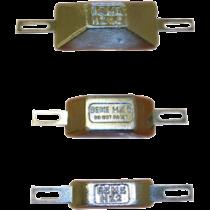 Zinkanode mit Streifen für Bolzenmontage, Typ HZ-10, 200x160mm ( 1,00kg )