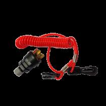 Notstoppschalter komplett mit Spiralschnur, für Innen- & Aussenborder