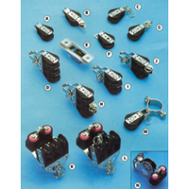 allpa Kunststoff Blöcke mit NIRO-verstärkten Wangen, 6mm