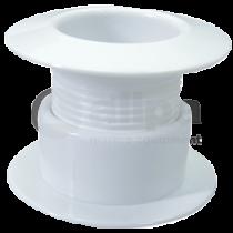 Schraub-Borddurchlässe aus weißem Kunststoff