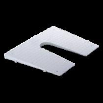 Heckspiegelschutzplatte (Konisch zulaufend), weiss