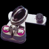 allpa NIRO Genua-Schlitten mit drehbarem Auge und Rasterstift für U-förmige Leitschiene
