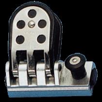 allpa Aluminium Genua-Schlitten mit Seitenbacken verstärkt mit NIRO, für T-Schienen 26x4mm