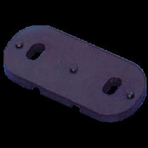 allpa Rechte Fußplatte für Bügelmontage für Schotklemmen 253000/253200