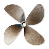 Schiffspropeller Bronze B7 4-Blatt 17x16 35mm Rechts