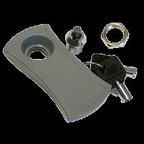Schloss mit Schlüssel, Ersatzschlüssel für Kunststoff Luke Grau