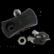Schloss mit Schlüssel, Ersatzschlüssel für Kunststoff Luke Schwarz