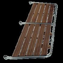NIRO Badeplattform mit Holzlatten aus Teak