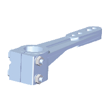 allpa Aluminium Rudder Arme