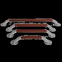 NIRO Handläufe mit Leder-Überzug