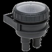 allpa Kunststoff Kühlwasserfilter Ø19-25mm, mit Wandhalterung & Klarsicht-Deckel 150l/min
