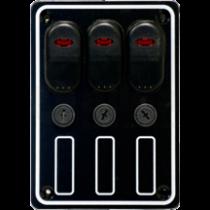 allpa wasserdichte Schalttafel 12V mit 15A Sicherungen und LED-Indikator