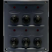allpa spritzwasserdicht Schalttafel 12V, mit 15A Sicherungen und LED-Indikator