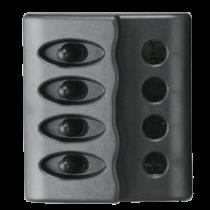 allpa spritzwasserdicht Schalttafel 12V, ABS, with 15A Glassicherungen und LED-Indikator