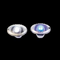 LED Orientierungsleuchte NIRO halb bedeckt / Ring - Weiß / Blau
