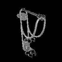NIRO Rettungsringhalterung mit Halter für Rettungslicht, montage auf Reling ( Ø25mm ) of Trennwand