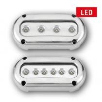 allpa LED Unterwasser Beleuchtung, Aufbau, 10-30V, Blue / Cool White