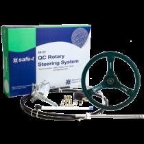"""Safe-T """"QC"""" Steuersystem mit kabel  + Riviera Steuerrad schwarz"""